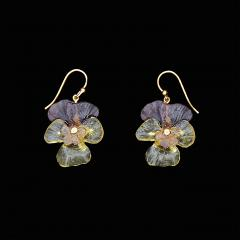 Pansies Wire Earrings - Stiefmütterchen