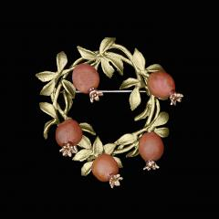 Pomegrante Wreath Brooch - Granatapfel