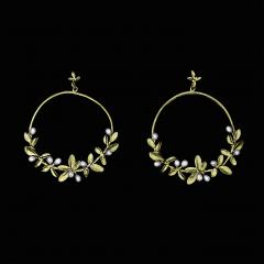 Flowering Thyme Hoop Post Earrings - Blühender Thymian