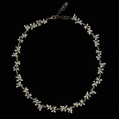 "Flowering Thyme 16"" Adj. Statement Necklace - Blühender Thymian"