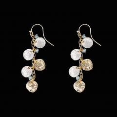 Jingle Shells Drop Wire Earrings -Sattelmuscheln-Ohrhänger