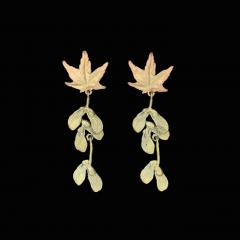 Japanese Maple Post Drop Earrings - Ahorn