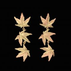 Japanese Maple Leaf Drop Post Earrings - Ahorn