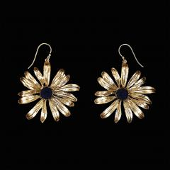 Black-Eyed Susan Wire Earrings