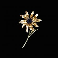 Black-Eyed Susan Statement Brooch - Rauer Sonnenhut